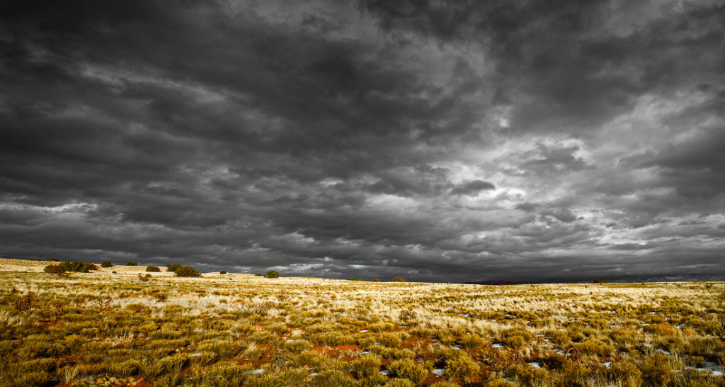 Black Mesa Thunderstorm - Archival Pigment Print on Canvas - 32 x 70 inches