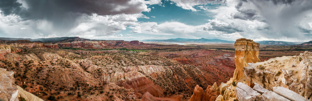 Chimney Rock Panorama - Archival Pigment Print on Canvas - 20 x 60