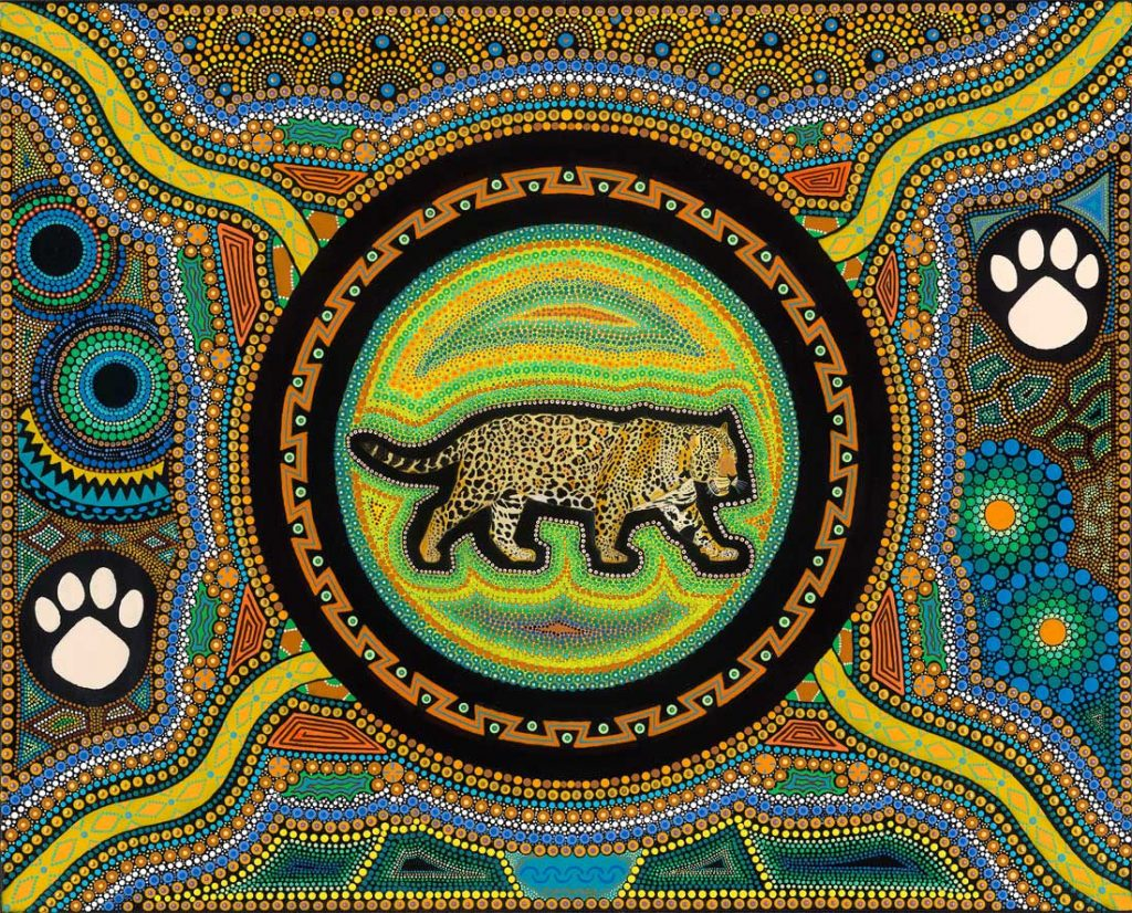 Jaguar Medicine - Acrylic on Canvas - 20 x 18
