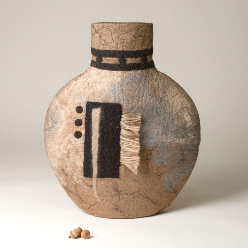 Desert Corral - Wet felted sculpture - 18 x 15 x 5