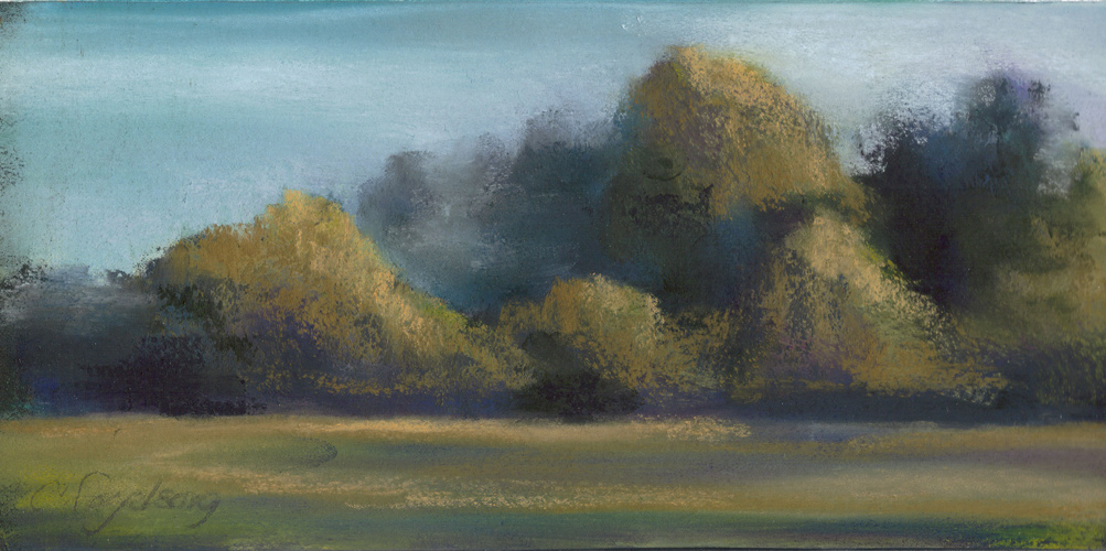 Kudzu Mountain Range - Pastel - 12 x 6 inches