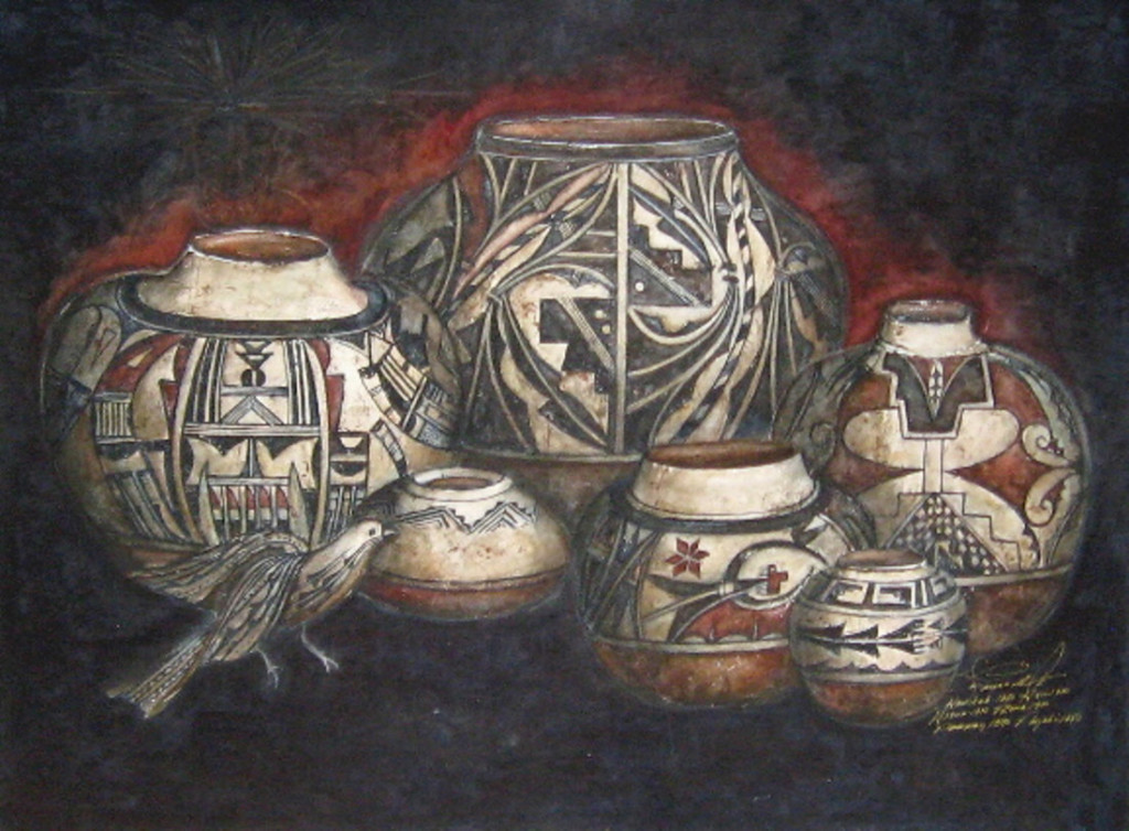 A Gathering of Antiquity - Watercolor - 22 x 30 inches