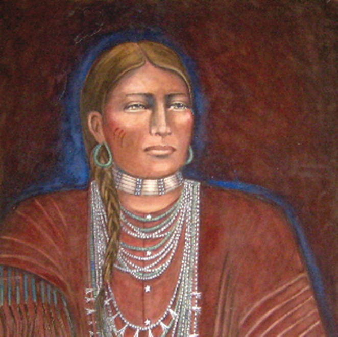 Cheyenne Woman - Watercolor - 22 x 30 inches