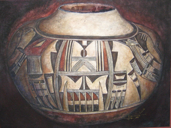 Nampeyo Hopi Pot - Watercolor - 22 x 30 inches