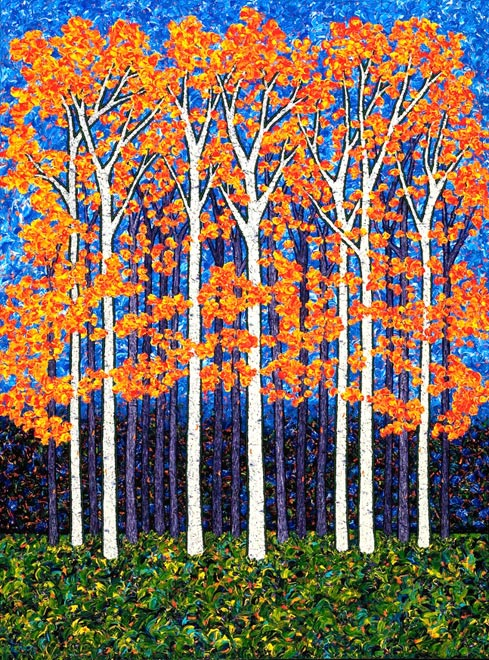 Aspen Entering - Acrylic on Canvas - 3 x 4 feet