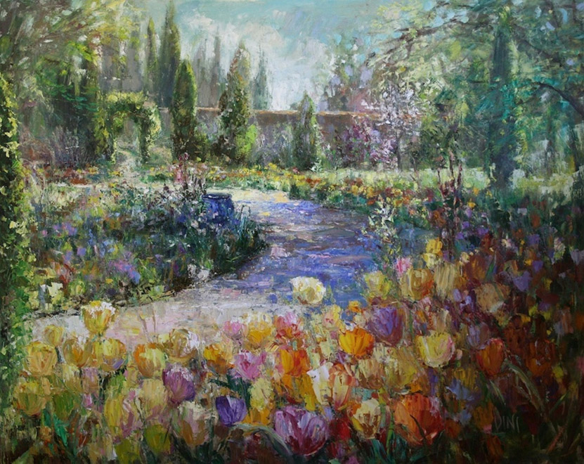 Tulips In Spring - oil on linen - 48 x 60 inches