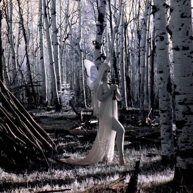Yrlithia-Lady of the Wood - Digital Infrared Photography - 11 x 14 inches
