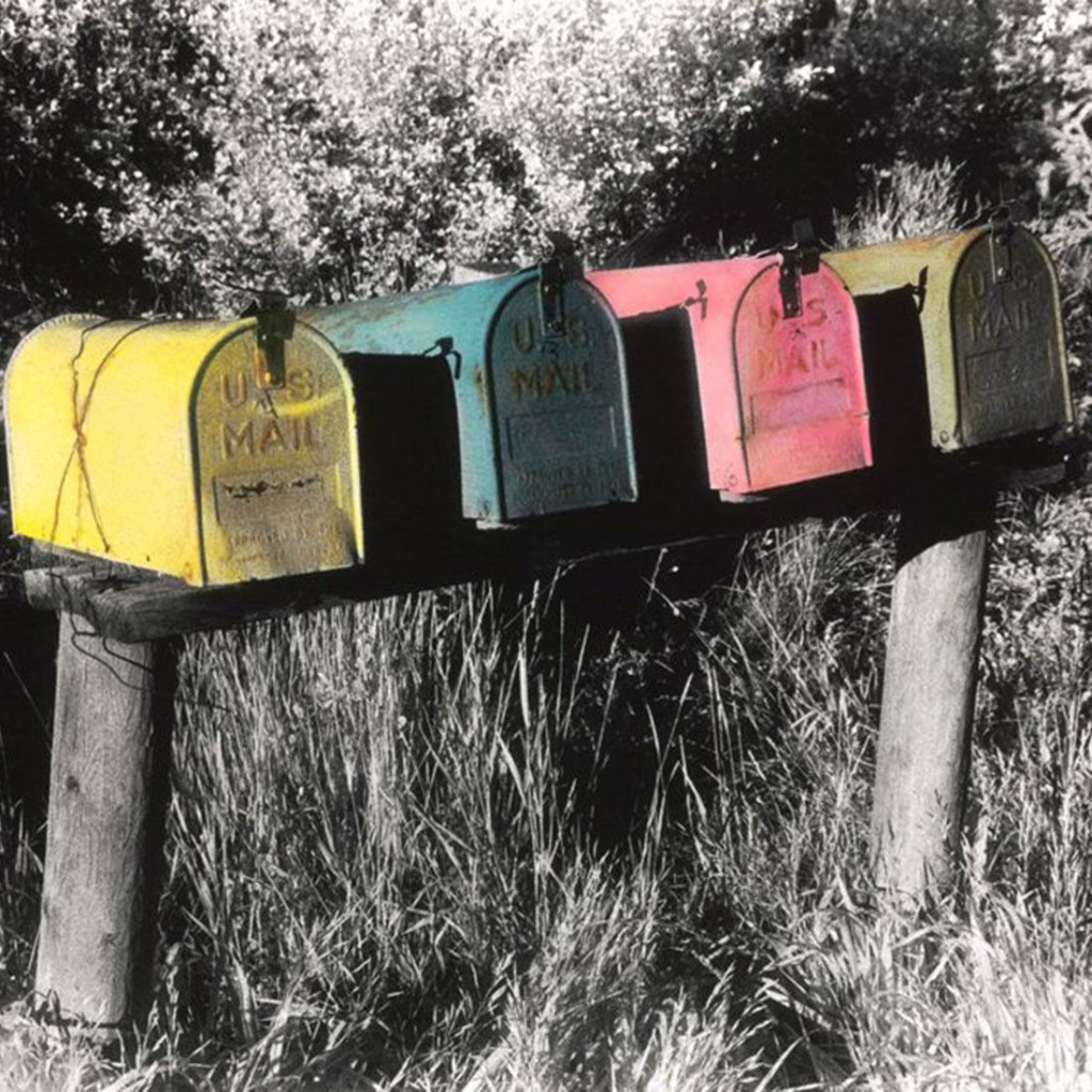 Mailboxes - Original hand-painted B&W photo - 16x20