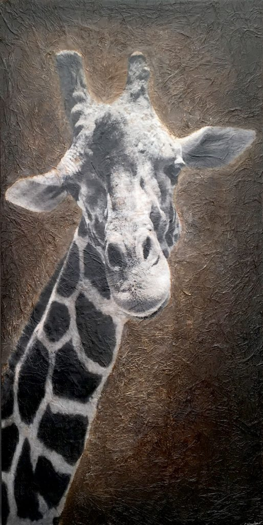 The Giraffe -- Mixed Media -- 36x72