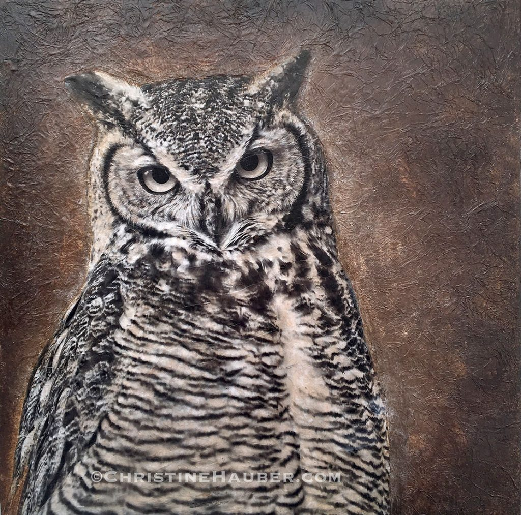 TheOwl -- Mixed Media -- 40x40