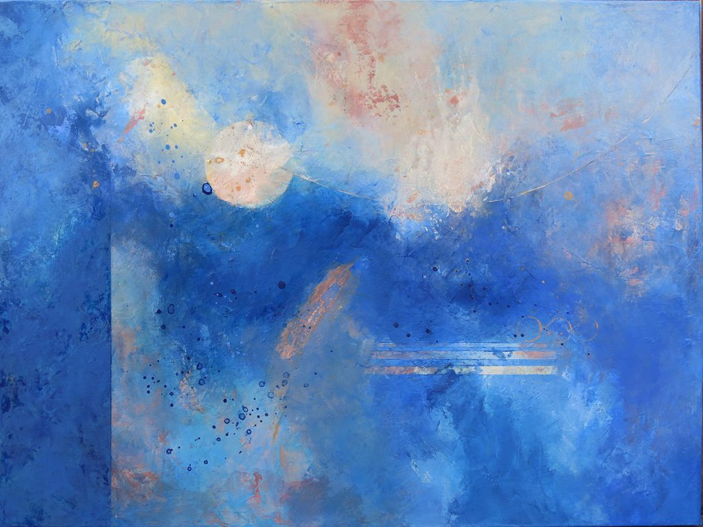 "Bluesong -- Acrylic on Canvas -- 30"" x 40"""