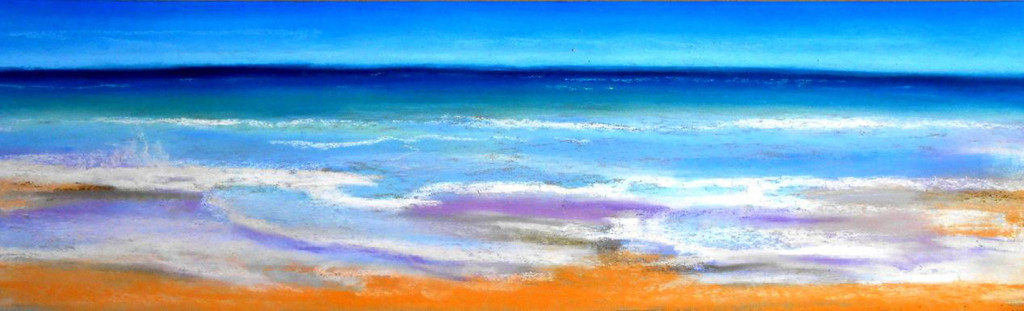 Sea and Sky - Pastel - 12 x 6 inches