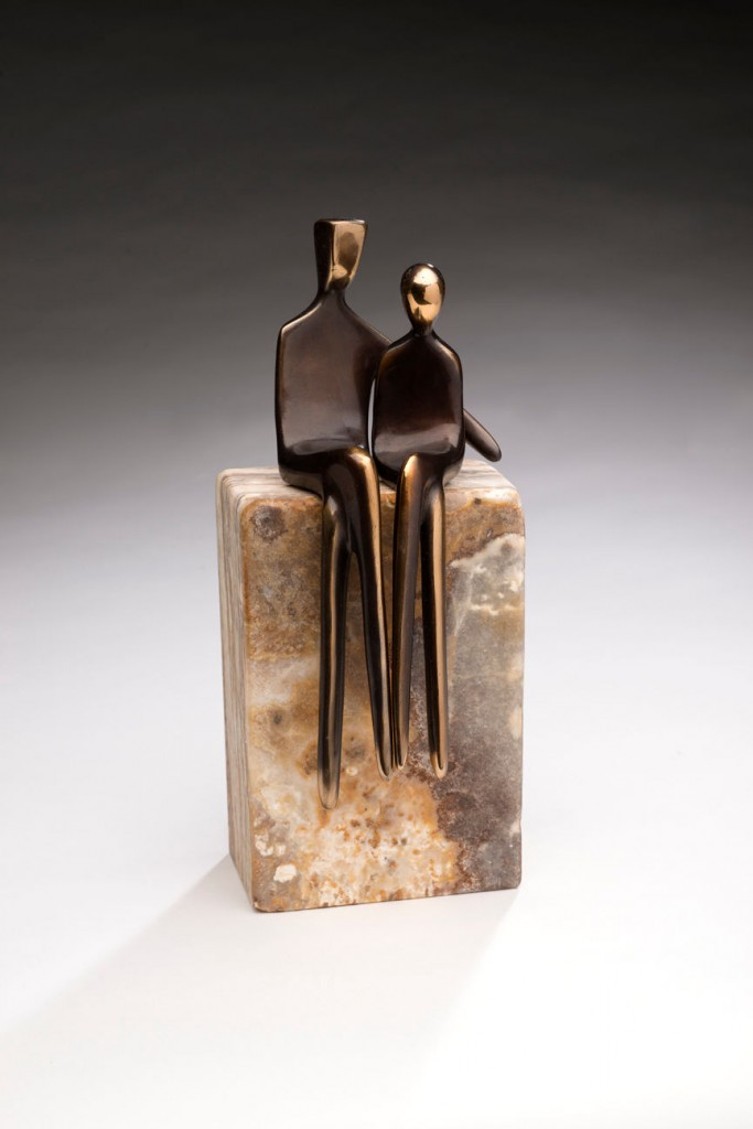 "Sit Next to Me - Bronze - 8"" tall"