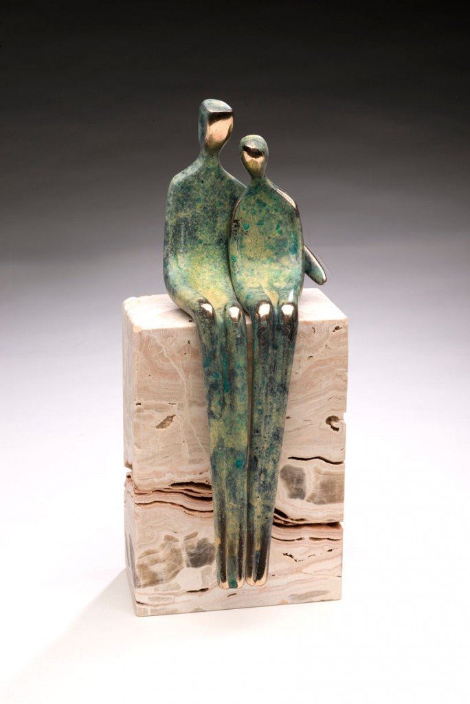"Close to Me - Bronze - 8"" tall"