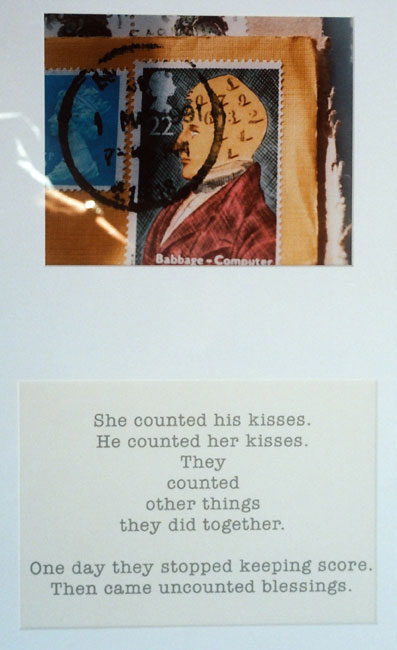 Counting Kisses - Mixed Media - 16 x 26 inches