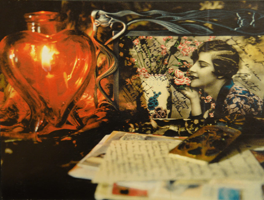 Lady With a Lighted Heart - Mixed Media - 18 x 24 inches