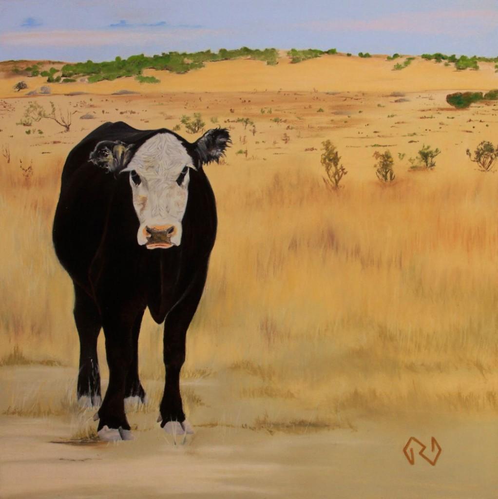 "Grassland Guardian - Pastel - 12"" x 12"""