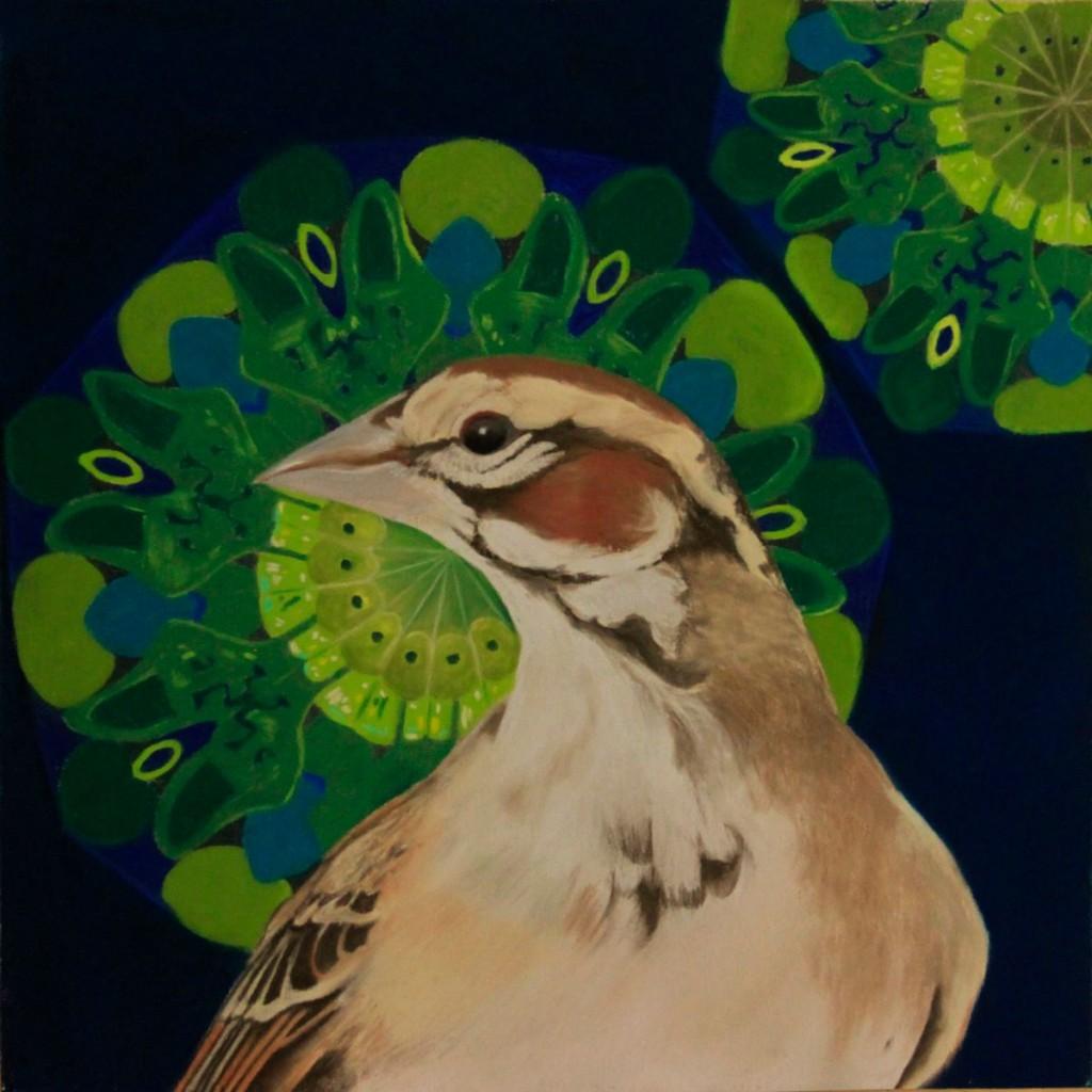 "Lark Sparrow - Pastel - 8"" x 8"""