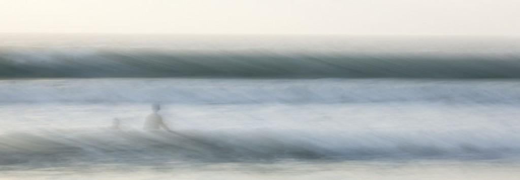 Hanalei Swimmers - Archival Print on Aluminum - 12 x 36