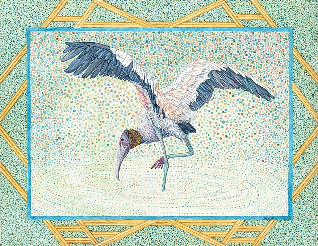 Woodstork - Watercolor - 24 x 18