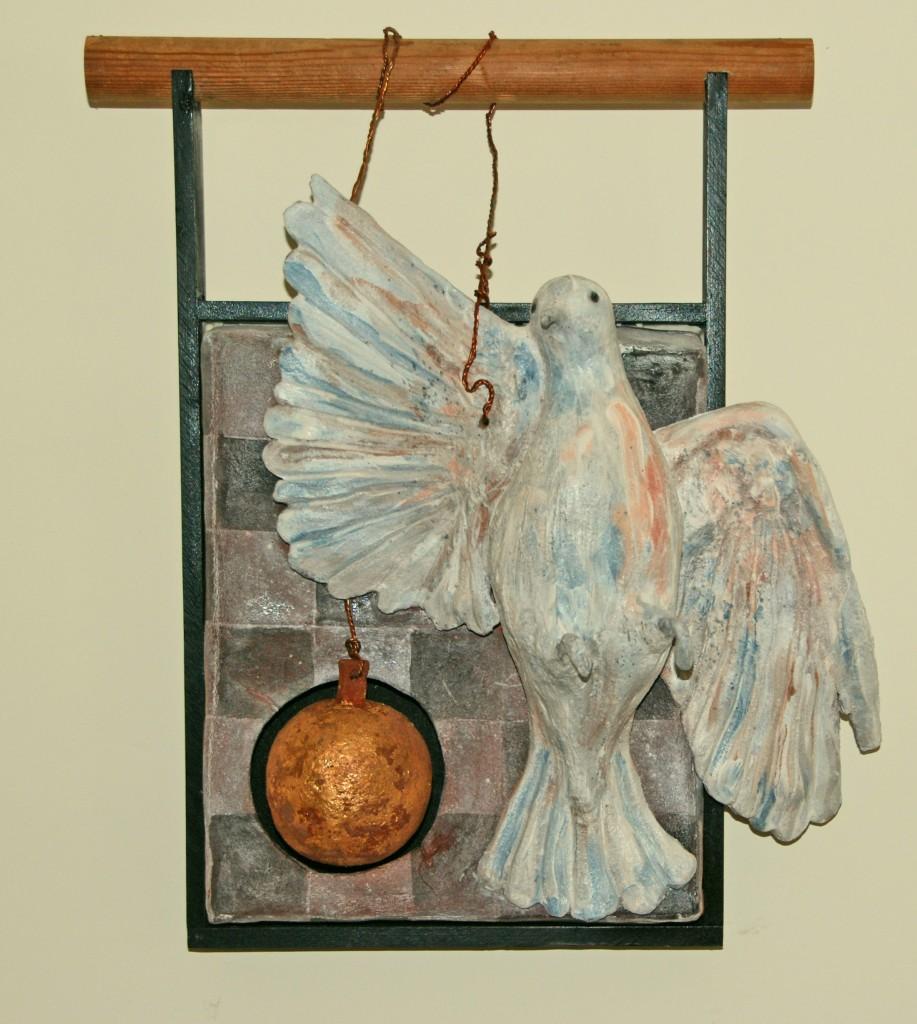 Jamie Winslow - Ceramic, Wood - 10.5 x 18 x 7 (high) inches