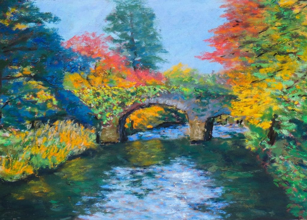 Irish Bridge Near Wicklow Mtns Natl Park - Soft Pastel - 14 x 10