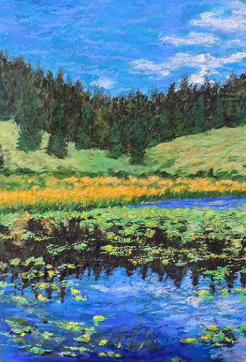 Lilly Pond at 12-000' - Soft Pastel - 14 x 20