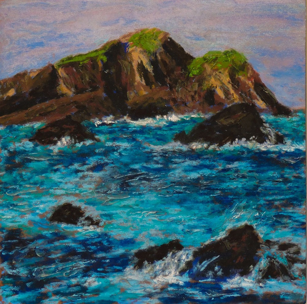 Irish Coast II - Soft Pastel - 10 x 10