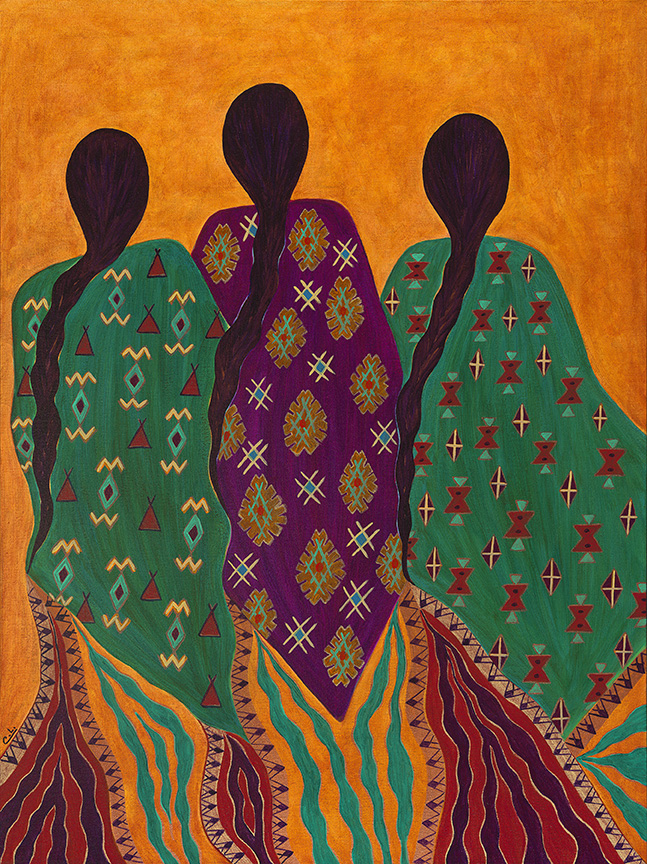 The Three Graces / Duende - Acrylic on Canvas - 40 x 30