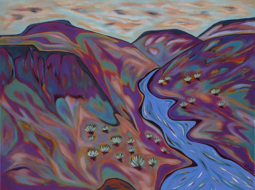 Abiquiu Sunset - Acrylic - 18 x 24