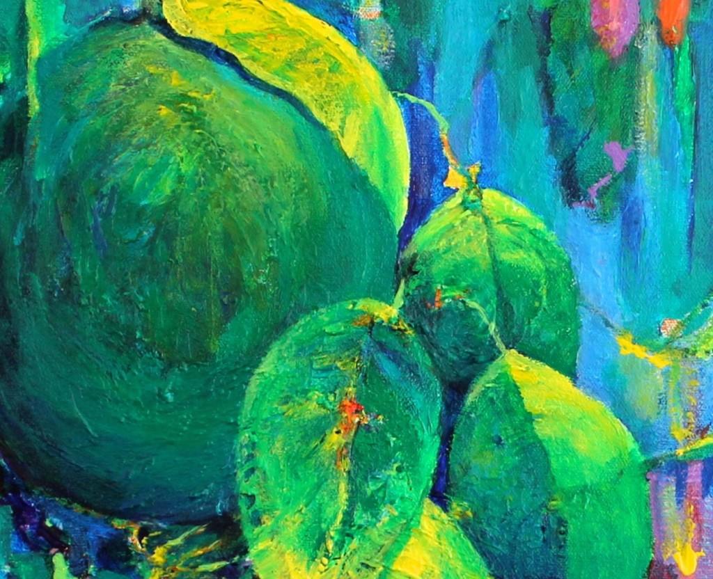 Rainy Lemons - Acrylic - 24x12
