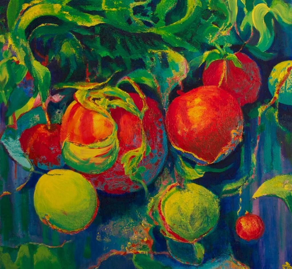 Tomatoes - Acrylic - 28x22