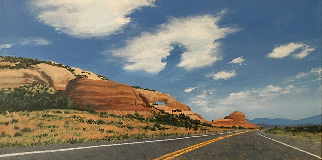 Approaching Wilson Arch - Acrylic on Canvas - 12 x 24