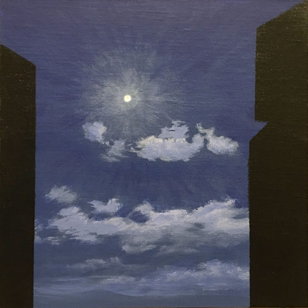 Night Square - Acrylic on Panel - 12 x 12