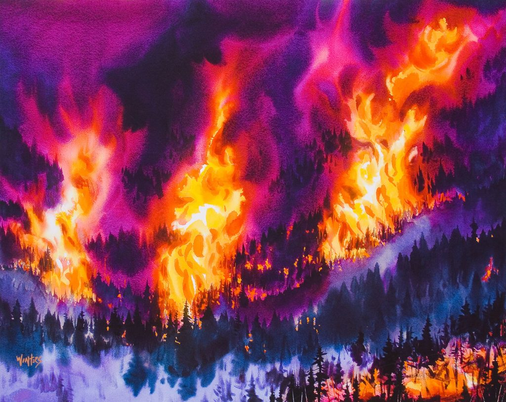Nature's Fury - Watercolor - 30 x 40