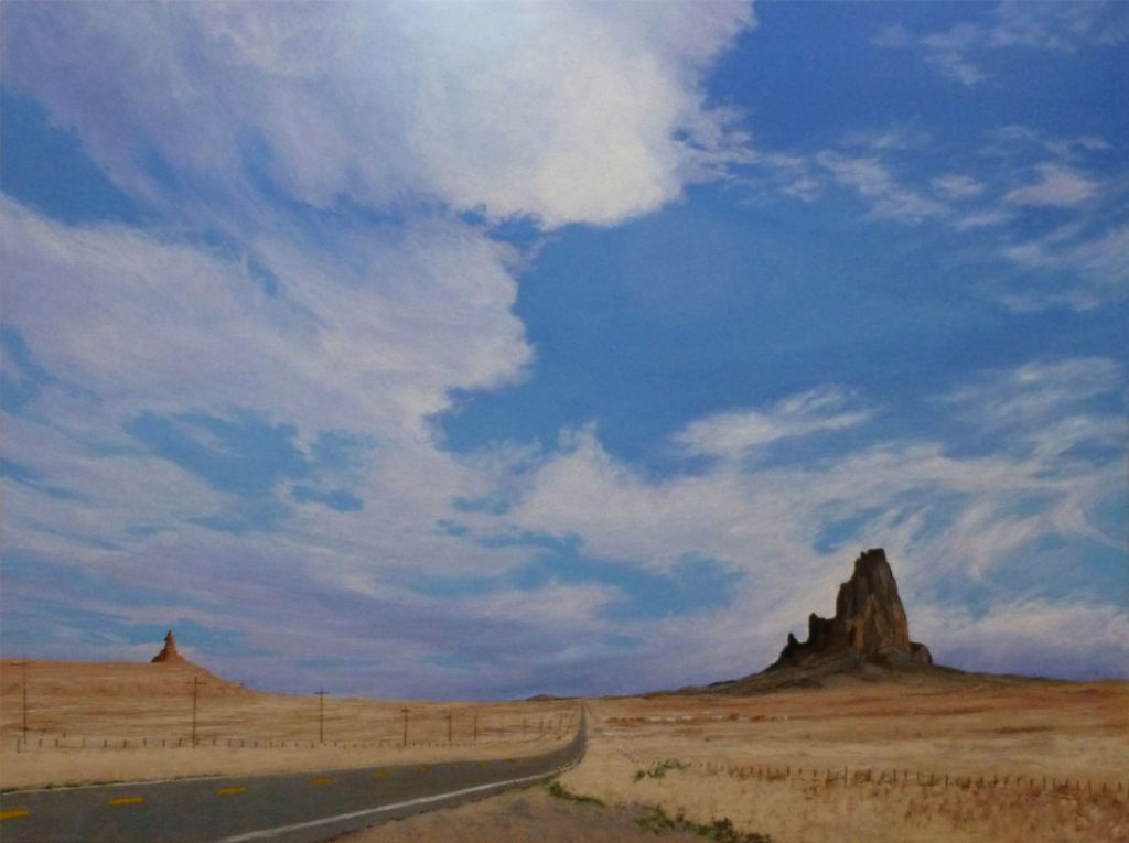 Shiprock Stands Firm - Acrylic on Canvas - 30 x 40