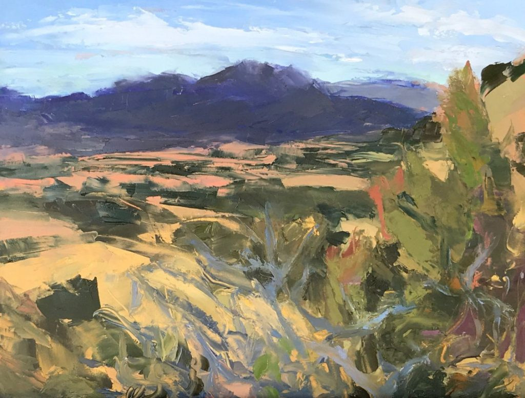 View of Galisteo Basin Preserve - Oil - 12 x 16