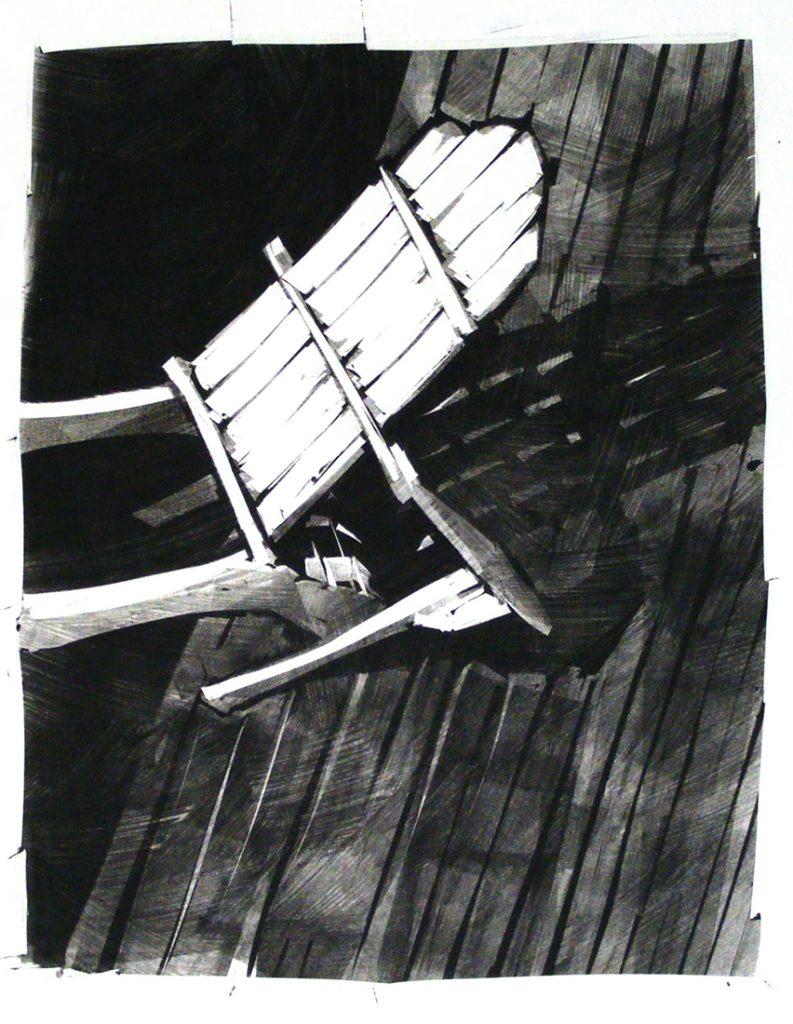 Adirondack 5 - Monotype - 20 x 15.5