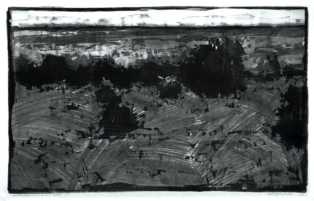 Glorieta Mesa - Monotype - 17 x 27