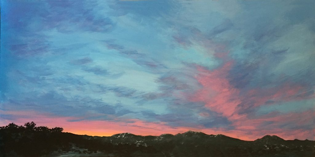 New Day, Santa Fe - Acrylic on Canvas - 24 x 48