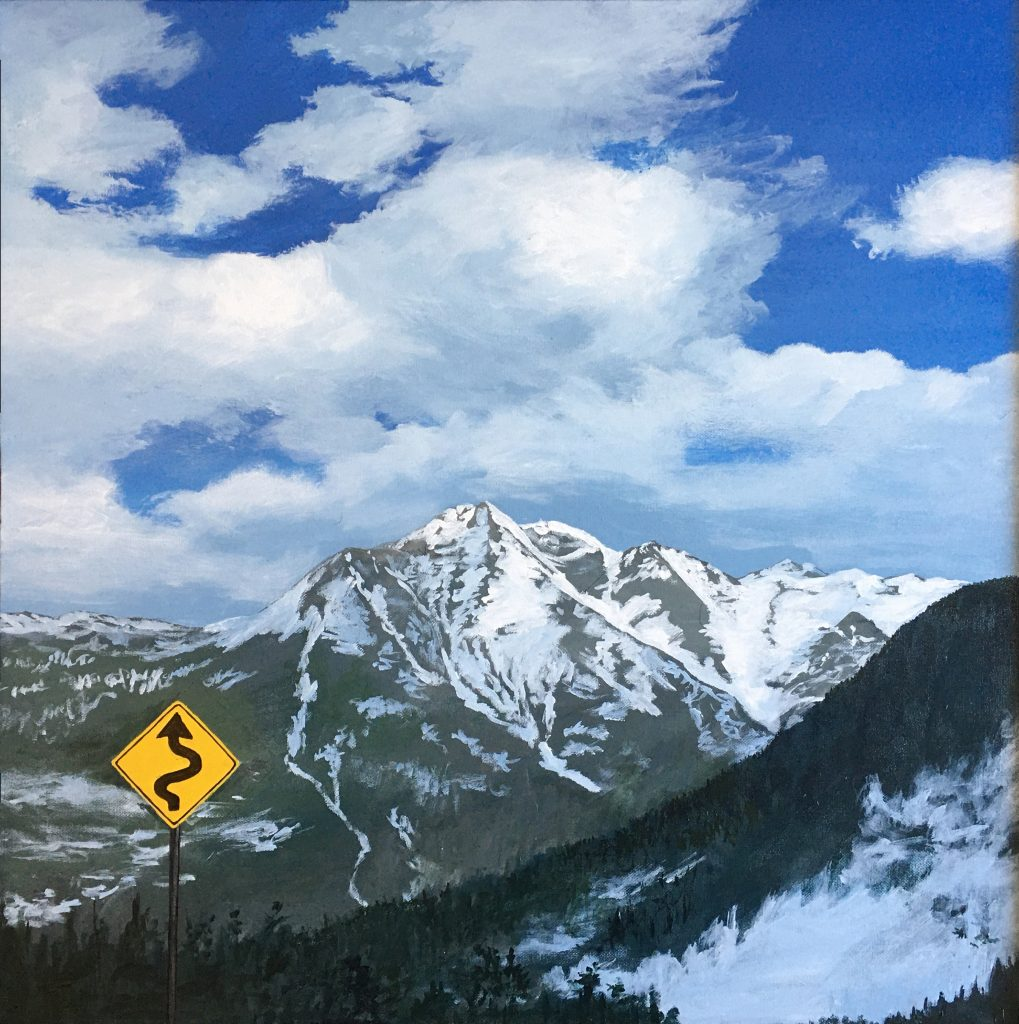 Curves before Ouray - Acrylic on Canvas - 24 x 24
