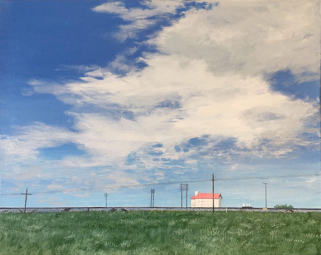 Trackside - Acrylic on Canvas -24 x 30