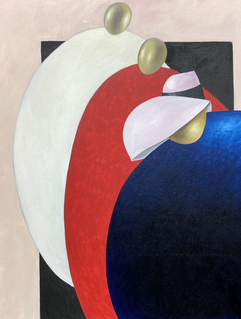 White, Red and and Blue - Oil - 60 x 48